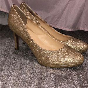 Shimmery Gold Heels